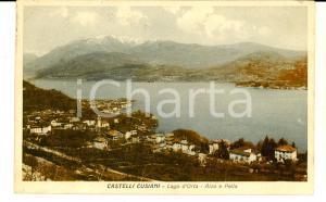 1910 ca CASTELLI CUSIANI Alzo e Pella sul Lago d'Orta *Cartolina postale FP VG