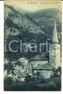 1921 CAMPERTOGNO (VC) Panorama del paese in VALSESIA *Cartolina FP VG