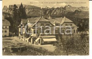 1915 ca SOPRABOLZANO (BZ) Pensione VILLA LAURINO verso le Dolomiti *Cartolina