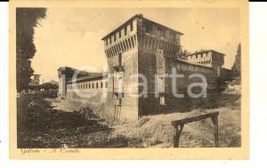 1943 GALLIATE (NO) Veduta del castello *Cartolina VINTAGE FP VG