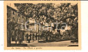 1940 ca LA SPEZIA Via Chiodo e giardini *Cartolina postale VINTAGE FP NV