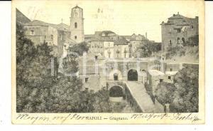 1907 GRAGNANO (NA) Veduta panoramica del paese *Cartolina postale FP VG