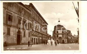 1936 VIBO VALENTIA Veduta di corso UMBERTO I *Cartolina ANIMATA FP VG