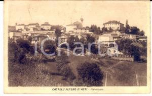 1926 CASTELL'ALFERO (AT) Panorama del paese *Cartolina postale FP VG