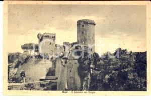 1958 NEPI (VT) Veduta del castello dei Borgia *Cartolina postale FP VG