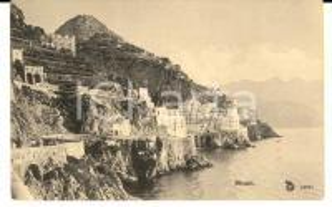 1910 ca ATRANI (SA) Panorama del paese sul mare *Cartolina postale FP NV