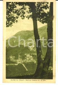 1930 ca OLTRE IL COLLE (BG) Panorama del paese *Cartolina ILLUSTRATA FP NV