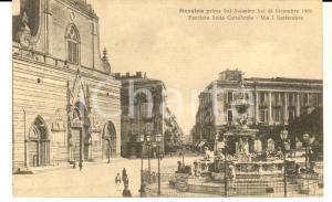 1910 ca MESSINA Facciata della cattedrale prima del terremoto *Cartolina NV