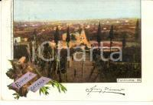1898 CATANIA Veduta panoramica *Cartolina ILLUSTRATA VINTAGE FP VG