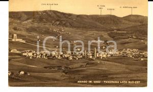 1949 ASIAGO (VI) Panorama dal lato sud-est *Cartolina postale FP VG