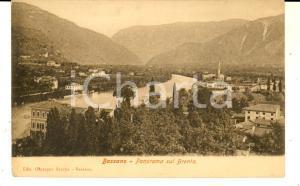 1900 ca BASSANO DEL GRAPPA Panorama sul Brenta *Cartolina VINTAGE FP NV
