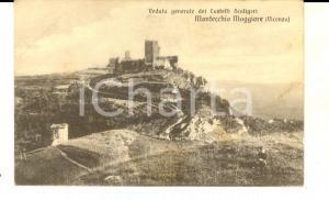 1920 ca MONTECCHIO MAGGIORE (VI) Veduta dei Castelli Scaligeri *Cartolina FP NV