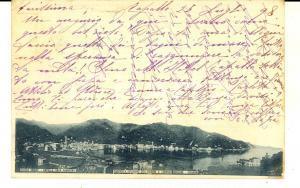 1898 RAPALLO (GE) Panorama con la riviera *Cartolina ed. Lorenzo BORZONE