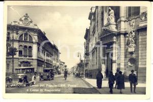 1931 PADOVA Corso del Popolo e Regie Poste *Cartolina ANIMATA auto FP VG