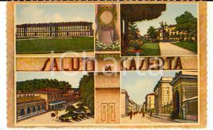 1942 CASERTA Vedutine con la Reggia e la stazione *Cartolina FP NV