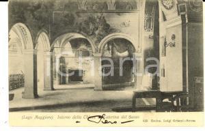 1903 LEGGIUNO Interno della chiesa di SANTA CATERINA del SASSO *Cartolina FP VG
