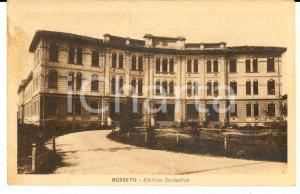 1930 ca BUSSETO (PR) Facciata di un edificio scolastico *Cartolina FP NV