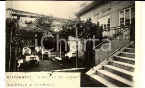 1960 ca SAN GIORGIO A CREMANO Ristorante GIARDINO DEI FIORI *Cartolina FP NV