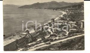 1930 ca BORGIO VEREZZI (SV) Veduta panoramica con il litorale *Cartolina FP NV
