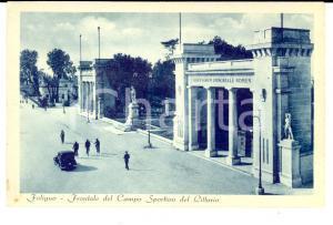 1943 FOLIGNO Frontale del Campo Sportivo del Littorio *Cartolina ANIMATA FP NV