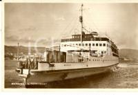 1940 ca MESSINA Ferryboat SCILLA in uscita dal porto *Cartolina ANIMATA FP NV