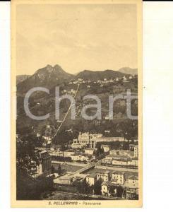 1915 ca SAN PELLEGRINO TERME (BG) Panorama dall'alto *Cartolina FP NV