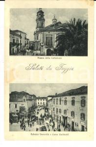 1920 ca FOGGIA Vedutine con la cattedrale e corso Garibaldi *Cartolina FP NV