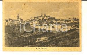 1930 ca CAMERINO (MC) Veduta panoramica *Cartolina postale ILLUSTRATA FP NV