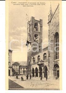 1915 ca COMO Progetto per il BROLETTO e la torre - Ing. STAMPA *Cartolina FP NV