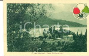 1917 CALAVINO (TN) Panorama di Castel TOBLINO e lago - Cartolina FP NV