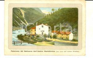 1910 ca MONTEFORTINO (AP) Panorama del santuario MADONNA DELL'AMBRO *Cartolina