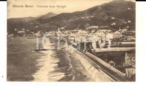 1916 ALBISSOLA MARINA (SV) Panorama lungo la spiaggia *Cartolina FP VG