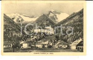 1931 CAMPO TURES (BZ) Veduta panoramica con il castello *Cartolina FP VG