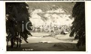 1939 SAN CANDIDO (BZ) Panorama del paese innevato *Cartolina FP VG