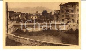 1930 ca SACILE (PN) Il Ponte della Vittoria e il Monte Cavallo *Cartolina FP NV