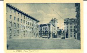 1933 LA SPEZIA Piazza Vittorio Veneto *Cartolina postale ANIMATA FP VG