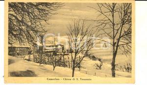1930 ca CAMERINO (MC) Chiesa di S. VENANZIO sotto la neve *Cartolina FP NV