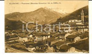 1933 CLUSONE (BG) Panorama del paese *Cartolina postale FP VG