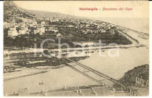 1905 VENTIMIGLIA (IM) Panorama dal Capo *Cartolina postale VINTAGE FP VG