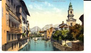 1915 ca BORGO VALSUGANA (TN) Panorama lungo il Brenta *Cartolina FP VG