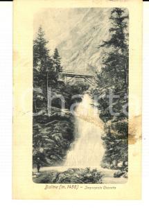 1920 BALME (TO) Veduta di un'imponente cascata *Cartolina postale VINTAGE FP VG