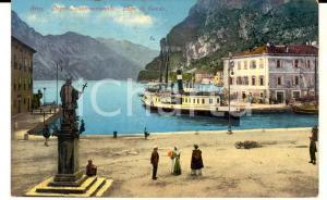 1910 RIVA DEL GARDA (TN) Lago di Garda e Dogana internazionale *Cartolina FP VG
