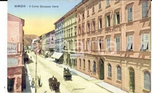 1920 ca GORIZIA Corso Giuseppe VERDI e ASSICURAZIONI GENERALI *Cartolina FP NV