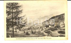 1930 ca RAVASCLETTO (UD) Il paese visto dalla SELLA VAL CALDA *Cartolina FP NV