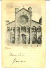1900 MODENA Facciata della cattedrale *Cartolina postale FP VG