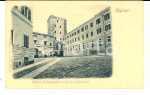 1901 CAGLIARI Piazza Indipendenza e Torre S. PANCRAZIO *Cartolina FP VG