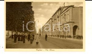 1930 ca CAGLIARI Veduta di via ROMA *Cartolina postale ANIMATA FP NV
