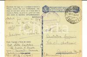 1942 WW2 TORRE ANNUNZIATA XIII Gruppo ARTIGLIERIA Cartolina cap. Nello CANTATORE