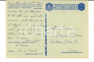 1942 WW2 ZONA DI GUERRA Barone Antonio MANNO incuriosito dal Sud *Cartolina