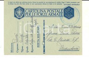 1941 WW2 NAPOLI Luigi PAVESI mal sistemato per requisizioni tedesche *Cartolina